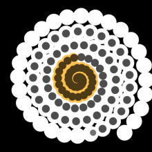 a spiral clock using svg and javascript