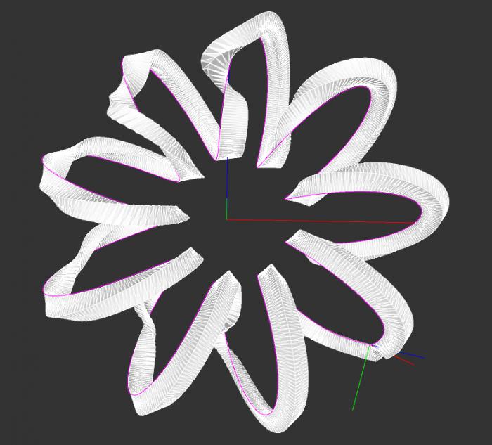 swept path using quarternions (modified toxiclibs ProfilePathAlignment example)