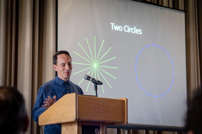 Evan Presenting at OSHWA Summit 2018 at MIT